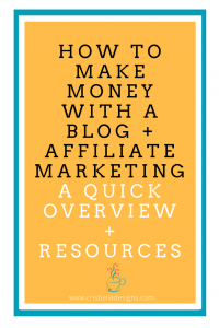 How to make money with a blog with affiliate marketing: quick overview + resources