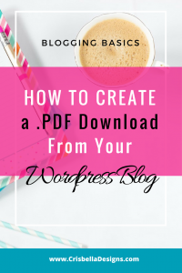 How To Create a .PDF Download From Your WordPress Blog