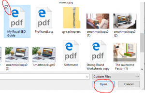 how to add a link to a .pdf from your blog